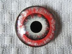Glass eyes zombie eyes 25mm jewelry or beading cabochons