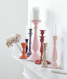 Ideas DIY para pintar y decorar candeleros de madera