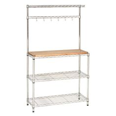 Seville Classics Bakers Rack Kitchen Workstation with Rubber Wood Top  //Price: $ & FREE Shipping //    #home #decor #interior #room #kitchen #homesweethome #homedesign #myhome