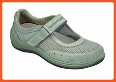 4be65178c70 Orthofeet Chattanooga Womens Comfort Orthotic Orthopedic Diabetic Mary Jane  Shoes Gray Fabric and Leather 8.5 W