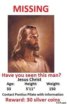 Funny God Jesus Christ Missing Joke Pictures | Funny Joke Pictures