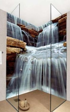 Kreative Fotofliesen von Okhyo duschkabine Creative photo tiles of Okhyo shower cabin Bad Inspiration, Bathroom Inspiration, Creative Inspiration, Dream Bathrooms, Beautiful Bathrooms, Waterfall Shower, Photo Tiles, Bathroom Tile Designs, Bathroom Ideas