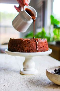 Chocolate Covered Prune Fudge Cake recipe || This decadent, fudgy chocolate cake is naturally sweetened and grain free, but your tastebuds will be none the wiser! Each bite is like a little slice of chocolatey heaven for your tastebuds! || @thismessisours @caprunes #ad Best Gluten Free Recipes, Gluten Free Desserts, No Bake Desserts, Healthy Recipes, Delicious Desserts, Chocolate Morsels, Decadent Chocolate, Cake Chocolate, Cake Recipes