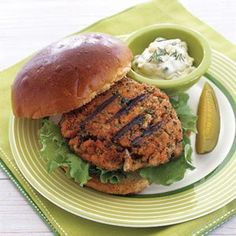 Fresh Salmon Burgers with Capers and Dill - Delish.com