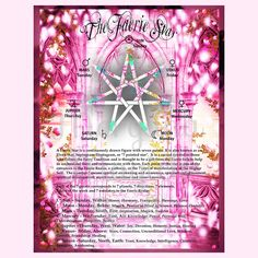 The FAERIE STAR, ELVEN Star, Septagram Digital Download, Faerie, Book of Shadows Page, Grimoire, Scrapbook, Spells by MorganaMagickSpell on Etsy
