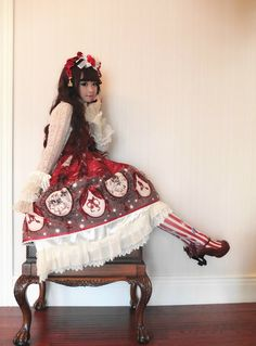 i love seeing non-asians wear lolita so if anyone has any pictures can i see them? Lolita Cosplay, Japanese Street Fashion, Asian Fashion, Sweet Fashion, Women's Fashion, Mode Lolita, Lolita Style, Estilo Harajuku, Gothic Lolita Fashion