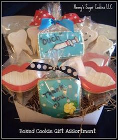 cute! boxed cookie gift for a Dental Assistant