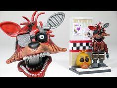 FNAF Phantom Foxy with CAM 08 Hallway | McFarlane Toys LEGO compatible FNAF set review - YouTube
