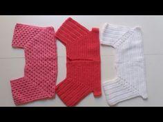3 MODELOS DE PALA DE CROCHÊ PARA CRIANÇA DE 5 A 6 ANOS - YouTube Gilet Crochet, Crochet Yoke, Crochet Girls, Crochet Baby Clothes, Cotton Crochet, Crochet For Kids, Crochet Stitches, Baby Dress Patterns, Baby Knitting Patterns