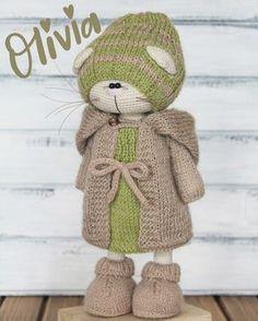by Isaeva Ekaterina Crochet Rabbit, Crochet Teddy, Crochet Bunny, Amigurumi Doll, Amigurumi Patterns, Crochet Patterns, Knitted Dolls, Crochet Dolls, Crochet Supplies