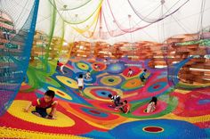 I want this in any indoor playground in Toronto! (Woods of Net au Japon)
