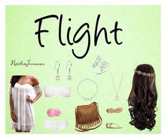 """Flight"" by nathajimenez on Polyvore featuring moda, Chanel, Report, London Road, Eos, Hot Anatomy y Topshop"