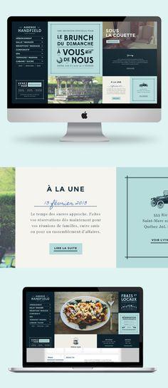 #webdesign culinaire : Auberge Handfield.