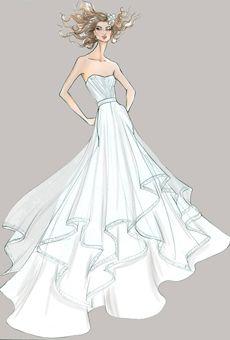 Watters Collection Runway Sneak Peek: Spring 2013 Sketches | Wedding Dresses | Brides.com : Brides