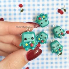 Kawaii polymer clay charm, BMO necklace, Adventure Time Jewlery by MomoKittyCreations on Etsy https://www.etsy.com/listing/228106397/kawaii-polymer-clay-charm-bmo-necklace