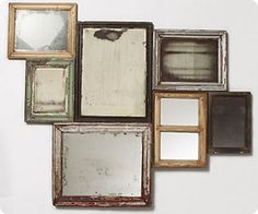 Collected Memories Mirrors. [ideas for living room]