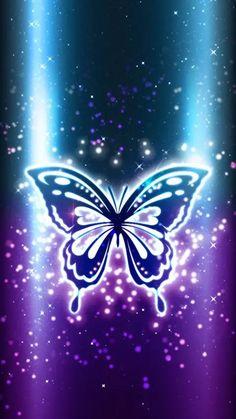 By Artist Unknown. Purple Butterfly Wallpaper, Butterfly Background, Flowery Wallpaper, Heart Wallpaper, Locked Wallpaper, Butterfly Art, Cellphone Wallpaper, Wallpaper Backgrounds, Iphone Wallpapers