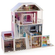 Puzzle 3d in legno casa di bambole pebaro doll house mad for Piani di casa in tudor