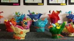 A pot of birds by grade two. Owls, Birds, Friends, Art, Craft Art, Amigos, Owl, Bird, Kunst