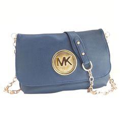I Will Tell You A Good News: Michael Kors Outlet Fulton Messenger Medium Navy Crossbody Bags $64.99