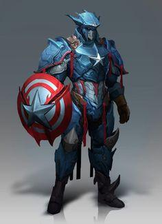 Captain America, Thor And Black Panther Get Kick Ass Fantasy Armor Heros Comics, Marvel Dc Comics, Marvel Heroes, Marvel Avengers, Comic Books Art, Comic Art, Captain America, Fantasy Armor, 3d Prints