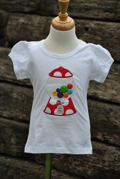 Bubble Gum Machine with Button Gumballs. Girls Tee by Hoot n Hollar Children's Outfitters. Bubble Gum Machine, Gumball Machine, Girls Tees, Spring Break, Buttons, Creative Writing, Trending Outfits, Children, Mens Tops
