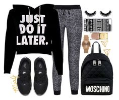 """""""&&✧; Autumn Sweats"""" by miaj2002 ❤ liked on Polyvore featuring Splendid, NIKE, Moschino, CellPowerCases and Topshop"""