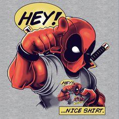 #Deadpool #Fan #Art. (Nice Shirt) By: LuluDubYou. (THE * 5 * STÅR * ÅWARD * OF * MAJOR ÅWESOMENESS!!!™) [THANK U 4 PINNING!!!<·><]