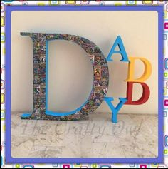 Name Letters, 3 Letter, Hand Painted, Colours, Lettering, Facebook, Frame, Painting, Home Decor