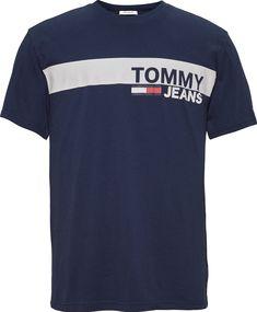 Tommy Hilfiger TJM Chest Stripe Logo tee Camiseta Deporte para Hombre