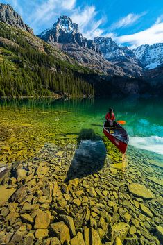 Lake O'Hara, Yoho NP / Canada - The area is known for its scenery as well as its alpine hiking. Visitors often follow the climbing trails which ascend from Lake O'Hara to Lake Oesa and to Opabin Lake. The number of people who access the area by bus has been limited in order to preserve the sensitive alpine environment.The Elizabeth Parker Alpine Club Hut is in the Meadows about a 15-minute walk from the Lodge. It is a ski destination in the winter, with many skiers doing it as a day trip.