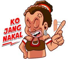 Pace and Mace Papua by Arif Hakim-Arnes-Indra (Branch Jayapura) sticker Indonesian Language, Chat App, Emoticon, Cute Stickers, Funny Photos, Animated Gif, Hero, Animation, Entertaining