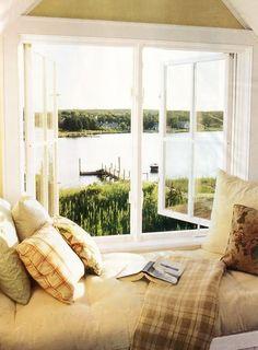 Window seat in lake house....