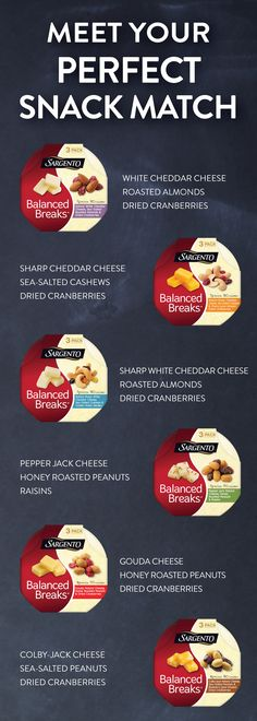 Are you looking for something sweet? Or maybe you're in the mood for something a little spicy – wait, no you want something salty. No matter what kind of snack you're looking for our Balanced Breaks® Snacks has got you covered. Look for these tasty cheese, nut, and dried fruit mixes in a dairy case nearest you.