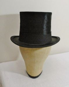 Antique London Brushed Silk Mens Top Hat by WildrosePrimitives, $175.00
