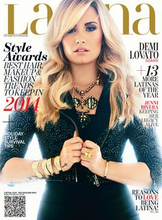 Demi Lovato Latina Magazine December 2013/January 2014 Cover. Check out her-behind-the-scenes: http://www.latina.com/entertainment/buzz/demi-lovato-behind-scenes-latina-december-january-cover