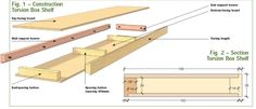 An excellent exploded diagram of a floating shelf that we commonly build and install.