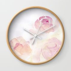 Available in natural wood, black or white frames, our diameter unique Wall… White Frames, Natural Wood, Watercolor Art, Home Accessories, Clock, Unique, Wall, Stuff To Buy, Home Decor