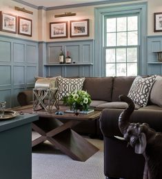 Blue and brown color scheme