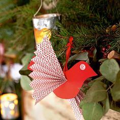 Make paper bird decorations | Handmade Christmas decorating ideas | Christmas crafts | Christmas | PHOTO GALLERY | Country Homes & Interiors...