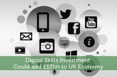 According to a new report, the UK economy could enjoy a boost of over if it sets aside money for digital skills investment. Investing, Ads, Money, Learning, Digital, Silver, Education, Teaching