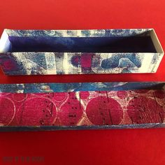 """PinkBooks_ paper_and_more on Instagram: """"Blue box - maybe feeling blue in these days as life feels like living in a box? Made with leftovers from Michaela's #mittwochsmix…"""""""
