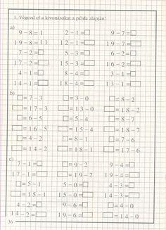 Albumarchívum Niklas, First Grade, Worksheets, Archive, Calendar, Math Equations, Teaching, Ariel, Preschool