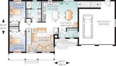 Plan modèle 1 étage et demi - Maisons Laprise - Maisons pré-usinées - Modèle #W3620