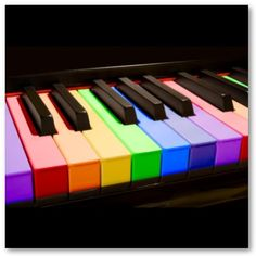 Rainbow Piano Keys Well it would be an interesting way to remember the octaves.