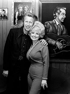 Porter Wagoner, left, and Dolly Parton announced at a small press conference Feb. 19, 1974 at Wagoner's Music Row office, that they would no longer be a team. Wagoner is looking for a replacement for his TV and road show, while Parton is looking for her own band