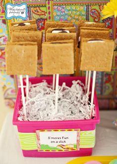 Fun idea... s'mores on a stick! #smores #dessert