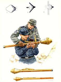 Volkssturm Mit Eine Panzerfaust (Panzer fist) anti- Tank Weapon