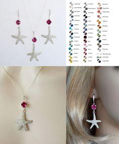 Choose Your Colour -- Starfish Crystal With Colour Neck/Ear Set (Sparkle-2653)…