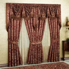 This is Red Fabric Curtain Design With Tie Item of Curtains Decoration Design. Elegance Beautiful Curtains Design Ideas around the world. No Sew Curtains, Rod Pocket Curtains, Lined Curtains, Curtains For Sale, Velvet Curtains, White Curtains, Window Curtains, Patterned Curtains, Colorful Curtains